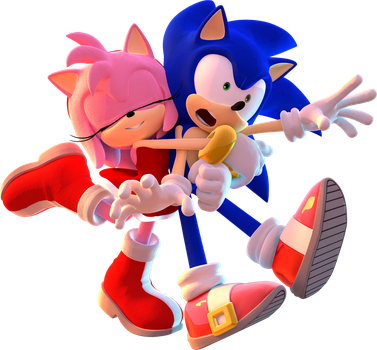 Sonic and Amy by mateus2014