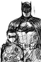 Batman and Son by Archonyto