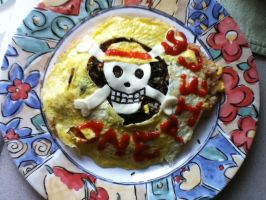Straw Hat Pirate Omelette Rice by anisukidayo