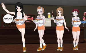 Mother In Law and Aunt in Hooters outfits by quamp