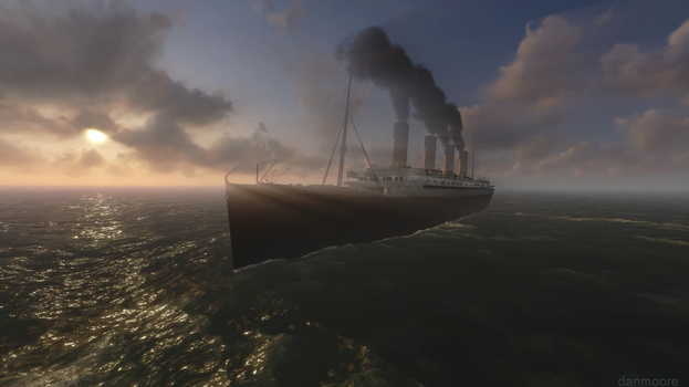 The Titanic in 3D by danmoore
