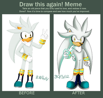 Draw This Again - Silver The Hedgehog by Bubbleslou
