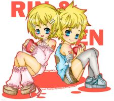 Rin and Len-My Love is Yours by QueenGiggles