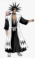 Kenpachi and his little angel by LightSeeker