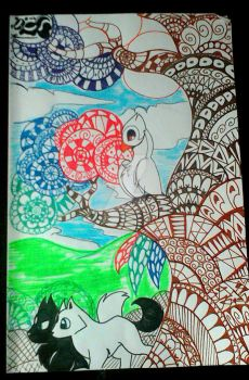zentangle  by Rougeprincess897