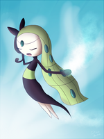 Beautiful song. Meloetta. by Archie-san