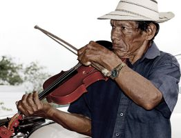 Street violinist by RinFlorin