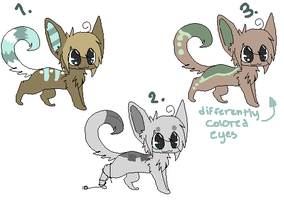 Cabbit adoptables. c: by bronzefish678
