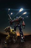 optimus and bumblebee by Mercedes12295