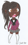 Black Chibi Schoolgirl by rc360