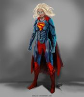 Supergirl concept art by Serzart