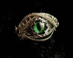 Gothic Fantasy Bracelet - Royal Dragon Eye by LadyPirotessa