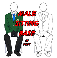 TMNTU Male Sitting template by Pimpypants