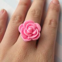 Sweet Pink Rose Ring by AsianBunni