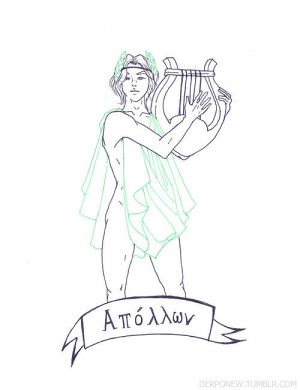 shinee as greek gods: onew as apollo