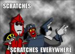 scratches scratches everywhere by Kisachi