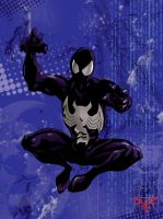 Symbiote Spidey by Hisan