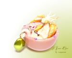 Minou, Goldwing dragon in a cup by rosepeonie