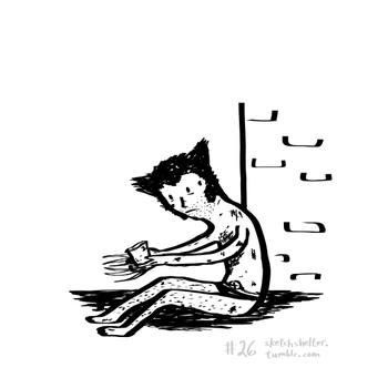 doodle request 26: homeless wolverine by inkblort