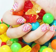 Candy nails 2 by Ceryse