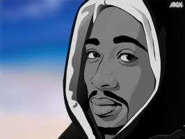 Portrait of 2pac by Pentool