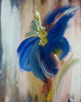 blue flower by HelaLe