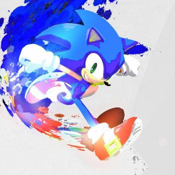 Saturated Paint - Sonic The Hedgehog by NeonstarMars