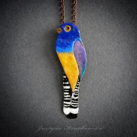 Violaceous trogon necklace by szaranagayama