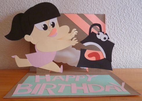 Pop Up Birthday Card by Cosmic-Onion-Ring