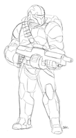 Bounty Hunter Sketch by Blazbaros