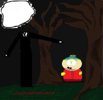 Slenderman finds Eric Cartman by CreaturefromtheVoid