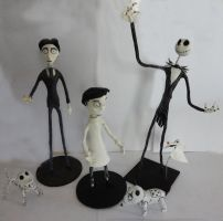 Three Friends from Tim Burton by MZamaro