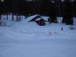 Winter house background by LimeStock