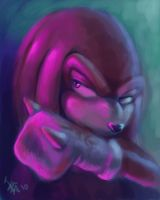 quick drawing of Knuckles by nocturnalMoTH