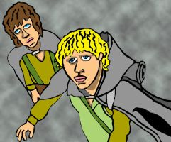 Merry And Pippin Of Lord Of The Rings by BabyFaceCrossbones