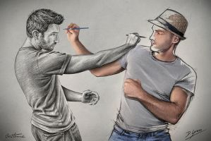 Sketch Fight (Pencil Vs Camera - 79) by BenHeine