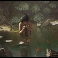 Jungle Boy (Painting steps) by logartis