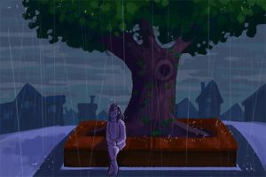 Rain - click for gif! by Timidemerald