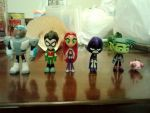 My Teen Titans Go figures! 8D by BlazingWolf9