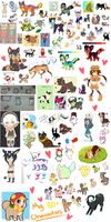 My 80+ Characters (LARGE FILE) by Manic-Bunny