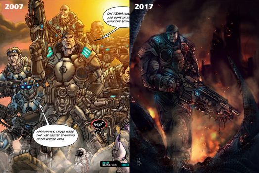 Gears of war before after by Fpeniche