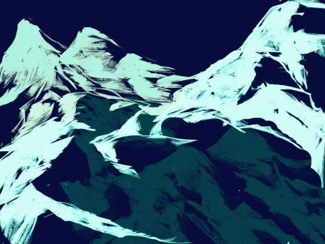 snow mountain by haodream