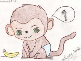 Chibi Baby Monkey -request- by shae249
