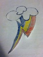 Rainbow Dash's Cutie Mark in Drawing (My Version) by xmaster555