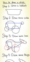 How to draw a whale by cystemic