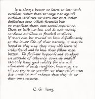 Jung quote: bear with ourselves by studentofrhythm