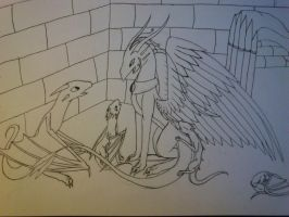 Blackwing and the orphans WIP by cynderplayer