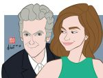 Peter Capaldi and Jenna Coleman - Doctor Who by howardshum