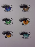 How to color eyes with Copic by RikuYanki