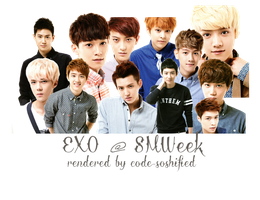 [RENDER] EXO for SMTOWN Week Photoset by CODE-SOSHIFIED